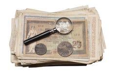 Collectibles铸造钞票奖 库存照片