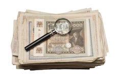 Collectibles铸造钞票奖 库存图片