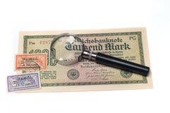 Collectibles Coins Banknotes Awards Stock Photography
