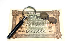 Collectibles Coins Banknotes Awards Stock Image