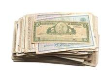 Collectibles prägt Banknoten-Preise Stockbilder