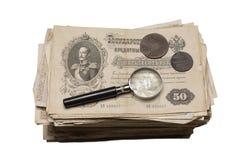 Collectibles prägt Banknoten-Preise Lizenzfreie Stockfotos