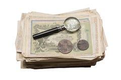 Collectibles prägt Banknoten-Preise Lizenzfreie Stockbilder