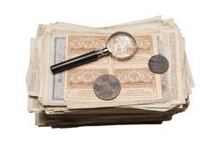 Collectibles prägt Banknoten-Preise Lizenzfreie Stockfotografie