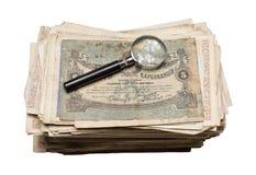 Collectibles prägt Banknoten-Preise Stockbild