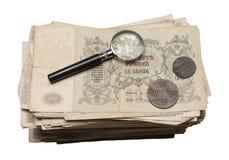 Collectibles prägt Banknoten-Preise Stockfoto