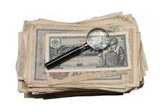 Collectibles prägt Banknoten-Preise Stockfotografie