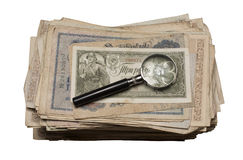 Collectibles prägt Banknoten-Preise Lizenzfreies Stockfoto