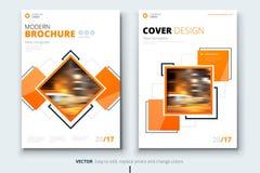 Collectief bedrijfs jaarverslagdekking, brochure of vliegerontwerp Pamfletpresentatie Catalogus met Abstracte geometrisch Stock Foto