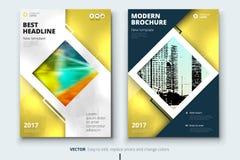 Collectief bedrijfs jaarverslagdekking, brochure of vliegerontwerp Pamfletpresentatie Catalogus met Abstracte geometrisch Stock Fotografie
