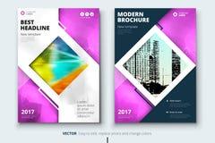 Collectief bedrijfs jaarverslagdekking, brochure of vliegerontwerp Pamfletpresentatie Catalogus met Abstracte geometrisch Royalty-vrije Stock Afbeeldingen