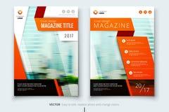 Collectief bedrijfs jaarverslagdekking, brochure of vliegerontwerp Pamfletpresentatie Catalogus met Abstracte geometrisch Stock Afbeelding