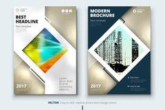 Collectief bedrijfs jaarverslagdekking, brochure of vliegerontwerp Pamfletpresentatie Catalogus met Abstracte geometrisch Royalty-vrije Stock Fotografie