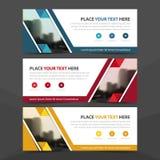 Collectief bedrijfsbannermalplaatje, de horizontale reeks van het het malplaatje vlakke ontwerp reclame van de bedrijfsbannerlay- stock illustratie