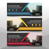 Collectief bedrijfsbannermalplaatje, de horizontale reeks van het het malplaatje vlakke ontwerp reclame van de bedrijfsbannerlay- vector illustratie