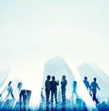 Collectief de Bouw van het Bedrijfsmensenbureau Concept Stock Afbeeldingen