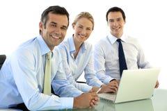 Collectief de uitvoerende macht commercieel team royalty-vrije stock afbeeldingen