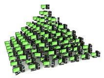 Collectief het netwerkconcept van PC Stock Afbeelding