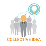 Collectief Ideezakenlui Team Cooperation Icon Business Banner Royalty-vrije Stock Fotografie