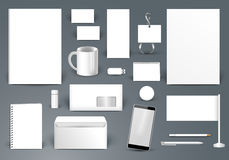 Collectief identiteitsmalplaatje Het brandmerken ontwerp Brievenenvelop, Stock Afbeeldingen