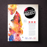 Collectief Identiteitsmalplaatje met Abstract Ontwerp Stock Illustratie