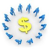 Collectief Inkomen - Dollar Royalty-vrije Stock Fotografie