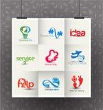 Collectief Logo Design Stock Foto