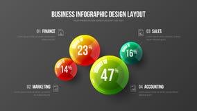 Collectief marketing grafisch de visualisatiemalplaatje van de statistiekeninformatie royalty-vrije illustratie