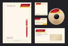 Collectief Vector BedrijfsMalplaatje Stock Foto's