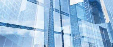 Collectieve bedrijfsbannerachtergrond, innovatie en high-tech royalty-vrije stock afbeeldingen