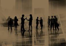 Collectieve Bedrijfsmensen Team Discussion Working Concept stock afbeeldingen