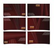 Collectieve bruine adreskaartjereeks Royalty-vrije Stock Foto's