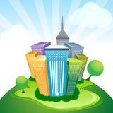 Collectieve gebouwen stock illustratie