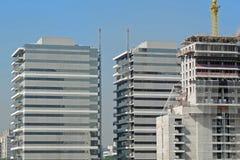 Collectieve gebouwen in aanbouw Royalty-vrije Stock Foto's