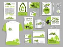Collectieve het bedrijfmalplaatjes van de identiteits vastgestelde ecologie stock illustratie
