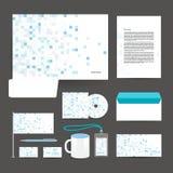 Collectieve het ontwerpkantoorbehoeften van het identiteitsmalplaatje stock illustratie