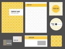 Collectieve identiteit - kantoorbehoeften voor bedrijf Stock Foto's