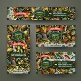 Collectieve Identiteits vectormalplaatjes geplaatst ontwerp met krabbelshand getrokken Automobielthema Royalty-vrije Stock Fotografie