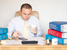 Collectieve manager op het kantoor Royalty-vrije Stock Afbeelding