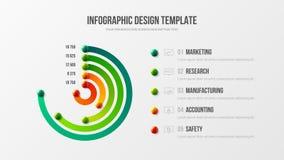 Collectieve marketing het ontwerplay-out van de analytics radiale bar vector illustratie