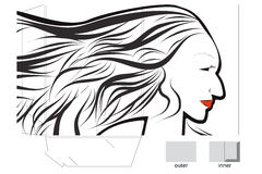 Collectieve omslag met gesneden matrijs en mooi sexy w stock illustratie