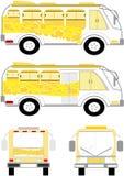Collectieve vervoerseenheid met gele bellen Stock Foto