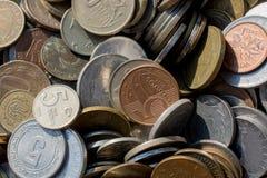 Collectiions velhos da moeda do metal Imagens de Stock