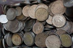 Collectiions velhos da moeda do metal Imagem de Stock Royalty Free