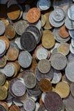 Collectiions velhos da moeda do metal Fotos de Stock