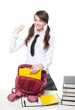 Collecting backpack Royalty Free Stock Photos