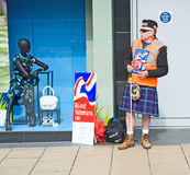 Collecting for the Blind Veterans UK Stock Photo