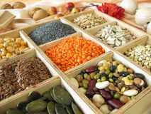 Collecting box with ingredients Stock Photography