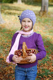 Collecting chestnuts Stock Image