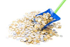Collecting Coins Royalty Free Stock Photos